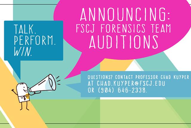 FSCJ Forensics Team Auditions