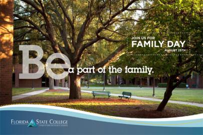 Be a part of the family! Learn how to make a smooth transition to college life at Florida State College's Family Day.